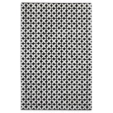 black white wool rug pl geo03