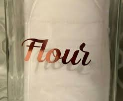 mrs hinch style rose gold name stickers