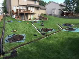 backyard water drainage system