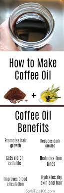 Coconut oil is an edible or fatty oil that has been obtained from coconut meat. Definitely Worth A Try 1cup Olive Oil Coconut Oil Or Avocado Oil 3 4 Cup Ground Coffee Via Styletips1o1 How To Make Coffee Oils Beauty Recipe