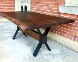 innovative dining table bases metal room top and wood in with legs plan 12