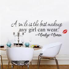 Marilyn Monroe Bedroom Furniture Aliexpresscom Buy Marilyn Monroe Quote A Smile Is The Best