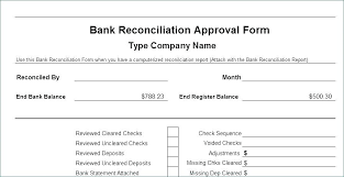 Bank Rec Template Business Reconciliation Info Free Monthly