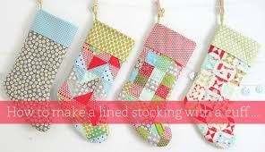 Christmas Stocking Sewing Pattern Magnificent Stocking Tutorial Cluck Cluck Sew