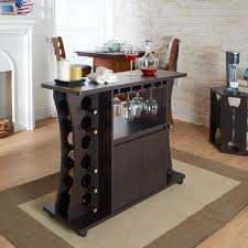 Wine rack bar table Kitchen Details About Modern Espresso Buffet Bar Table With Glass Wine Rack 12bottle Storage Cabinet Amazoncom Modern Espresso Buffet Bar Table With Glass Wine Rack 12bottle
