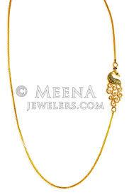 22 karat gold side pendant chain