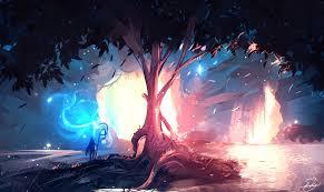 Anime scenery, Desktop wallpaper art
