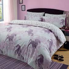 unicorn duvet cover sets kids girls pink purple junior single double king