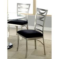metal dining chairs. Simple Metal Furniture Of America Sculpture I Contemporary Satin Metal Dining Chair Set  2 And Chairs