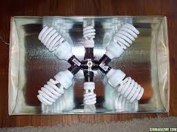 Homemade Cfl Grow Light Fixture Diy Cfl Reflector How To Simple Cheap Effective 420