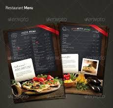 Restaurant Menu Template Flyer Templates Free Word Indesign Food