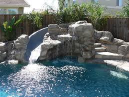 Pool Designs With Rock Slides Pool Slide Craftyc0rn3r Plumbing And Pool Equipment