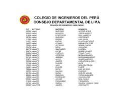 colegio de ingenieros del perú consejo