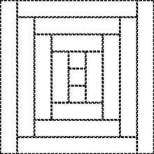 Courthouse Steps Quilt Pattern: Fast and Fun Beginner Quilt & Courthouse Steps Quilt Block - drawing Adamdwight.com