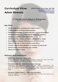 photography cv template
