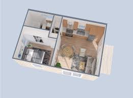 a 3d rendering of the essential house adu by