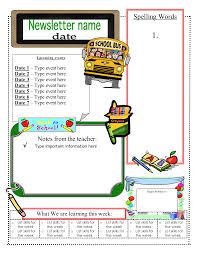 Word Templates For Newsletters Free School Newsletter Templates For Word Free Teacher Newsletter
