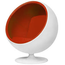 modern furniture chairs png. funky orange and white modern fibre glass aarnio ball chair furniture chairs png n