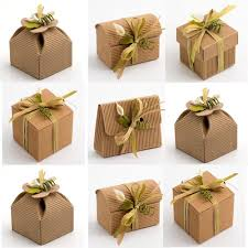 details about corrugated kraft natural wedding party favour gift bo shabby chic