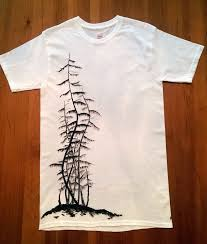How To Design A Shirt With Paint Nature T Shirt Japanese Shirt Nature Tee Nature Shirt Tree