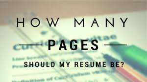 Resume How Many Pages Stunning 7224 How Many Pages Should My Resume Be And 24 Principles Behind That