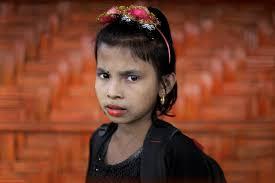 ap photos rohingya s find joy in elaborate makeup