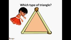 Triangle Types Chart Math Geometry Types Of Triangle Based On Angle English