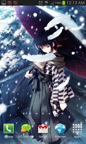 anime snow live wallpaper app