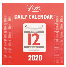 Daily Picture Calendar Daily Tear Off Desk Calendar 2020