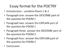 breaking down the questions of essay writing ppt  essay format for the poetry