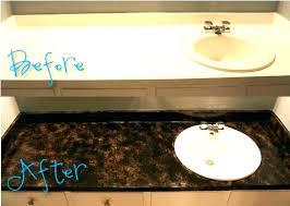 painting bathroom countertops to look like marble