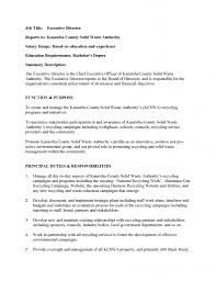 job postings executive director job description doc page 1