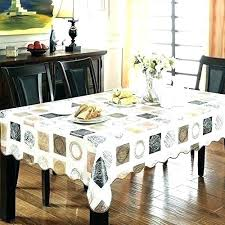 heavy duty clear plastic table cover fitted tablecloths vinyl round tablecloth t
