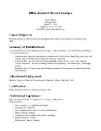 best resume format office assistant cv resumes maker guide regarding sample resume for office assistant office administration sample resume
