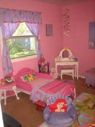 Next Home Childrens Bedroom Pink Wall Theme And Purple Fabric Curtain On The Hook Added By