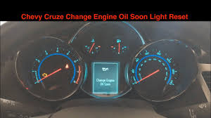 2014 Chevy Cruze Oil Light Reset Chevy Cruze Oil Life Reset Change Engine Oil Soon How To Same For Other Chevy Vehicles