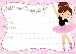 best ideas about printable party printable diy ballerina party invitations