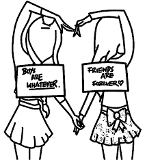 Friends Coloring Pages New Best Friend For Forever Girls Within Page