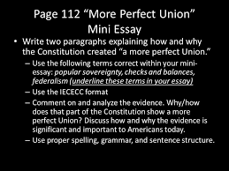 iececc writing what does the acronym iececc mean introduce  page 112 more perfect union mini essay write two paragraphs explaining how and why the constitution