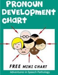Pronoun Development Chart Basic Concepts Vocabulary