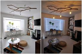 branch chandelier lighting. diy tree branch chandelier lighting repurposing upcycling