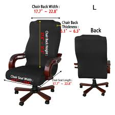 amazon btsky back office chair covers stretchy for puter chair desk chair boss chair rotating chair executive chair cover large size
