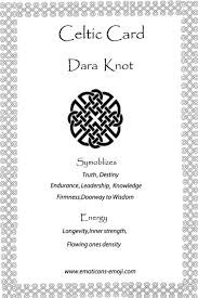 Celtic Knot Symbols And Meanings Chart Dara Knot Celtic Card Celtic Symbols Celtic Symbols