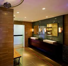 pictures of recessed lighting. Bathroom Recessed Lighting Ideas Charming Vanity Light Gray Stained Wall Square Mirror Double Round Ceiling Polished Nickel Faucet Pictures Of