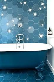 blue hex tile hexagon floor tiles cobalt glass marble