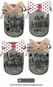 Jar Stickers Glass Jar Labels Vinyl Stickers For Christmas Gift Jars