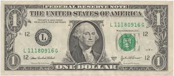 Image result for one dollar bill image