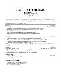 Sample Resume Call Center Agent For Cover Letter Samples Medical No