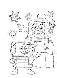 Spongebob Christmas Coloring Pages Color Bros Swifteus