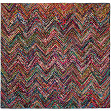 safavieh nantucket blue multi 8 ft x 8 ft square area rug